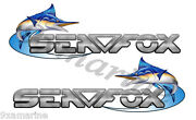 Two Sea Fox 10 Inches Long Uncut Stickers Left/ Right