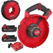 Milwaukee 2873a-22 M18 Fuel Angler 120and039 Steel Pulling Fish Tape W/2ah Bats New