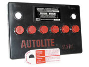 New Battery Cover Autolite 24f Flat-top With Top Terminals Black-red Detail Ford
