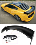 For 15-up Ford Mustang | Gt500 Track Pack Glossy Black Rear High Wing Spoiler