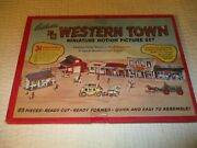 Vintage/c/and/b/miniaturewestern/town/motion/picture/set/scale/model1950/nice