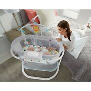Baby Bedside Bassinet Nursery Crib Newborn Cradle Soothing Motion Mobile Toy Bed