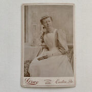 Antique Cabinet Card Photo Occupational Beautiful Young Nurse Glasses Easton Pa