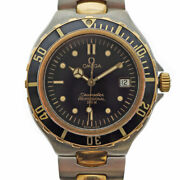 Used Omega Seamaster 200 Quartz Watch Battery Powered Divers Ss Black Color