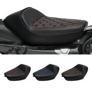 Black Rider Driver Pillion Solo Seat Fit For Harley Sportster Xl 1200 10-later