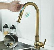 Touch Sensor Kitchen Faucets Hot Cold Water Mixer Pull Out Spray Antique Taps