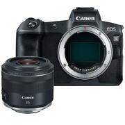 Canon Eos R 30.3mp Mirrorless Camera Body Only W/rf 35mm F/1.8 Lens