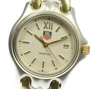 Tag Heuer Cell S05.013m Quartz Ivory Dial Boys Watch From Japan Pre Owned U0428