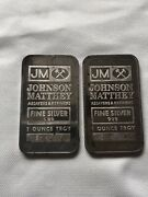 Sequential Sooterandrsquos Johnson Matthey 1oz .999 Silver Bar S16010-s16011 2oz Total