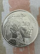 2 - 1 Ounce Silver Rounds .999 Fine Buffalo / Indian Design Free Shipping