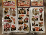 Nip Lot Of 3 Vtg Wendyand039s Puffy Stickers Clara Peller Whereand039s The Beef - Last Set