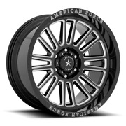 Set Of 4 American Force Ac003 Weapon 20x10 -18 6x139.7/6x5.5 Gloss Black Milled