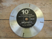 Cabinetmaker's 10 X 200 Tooth Plywood And Veneer Table Saw Blade 3/4 Arbor