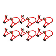 Biketek Series 3 Front Track Paddock Stand 6 Pack - Red