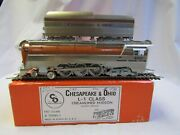 Precision Scale Co Ho Brass Chesapeake And Ohio L-1 4-6-4 Hudson Rd490 Tested