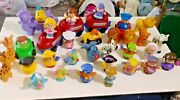 Huge Lot Of 36 Fisher-price Little People Toys + Little Tikes Dump Truck