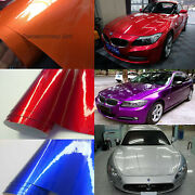 Metallic Glossy Vinyl Entire Car Vehicle Wrap Foil Graphics Covering Bubble Free