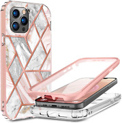 12 Pro Max Iphone Case Military Grade Protection Cover Marble Tempered Glass