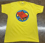 Vintage 80s 90s Cub Scout Camping Graphic T-shirt Yellow Sz Xlarge Screen Stars