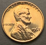 1967-p Us Lincoln Cent Red Gem Bu From Sms Set Free Shipping3346