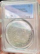 1799 Draped Bust Dollar Pcgs Vf Details Cleaned