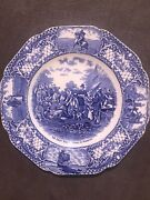 Platethe First Thanksgiving In America Colonial Times Bycrown Ducal Porcelain