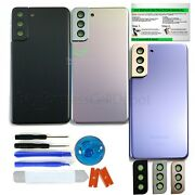 Back Glass Replacement Kit For Samsung Galaxy S21/+/ultra Camera Lens+ip68 Tape