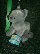 Ganz Webkinz Charcoal Cat Hm152 New With Unused Tags Approximately 8