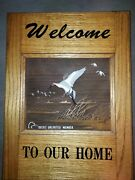 Ducks Unlimited Vintage Wooden Welcome Sign Pintails