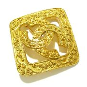 Auth Gold Hardware Brooch