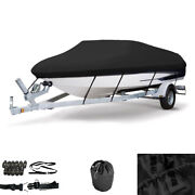 Waterproof Heavy Duty Boat Cover Fit V-hull Tri-hull Runabout Boat 16 Ft-19 Ft