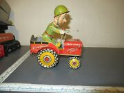 G I Joe And His Jouncing Jeep Wind Up Toy Military Toy Tin Vehicle