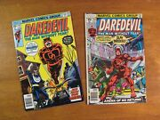 Lot Of 2 Daredevil Newsstand 141 Fn++ 154 Fn+ Super-bright And Glossy