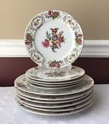 Lot Of 11-piece Vintage Adline China Made In Occupied Japan Dinner And Side Plates