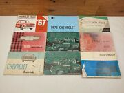 Lot Of 9 Late 50and039s-60and039s Vehicle Owners Manuals