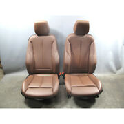 2014-2017 Bmw F22 2-series Coupe Front Sport Seat Pair Heated Terra Leather Oem
