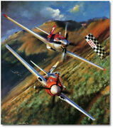 The Unlimiteds By John Shaw - North American P-51 Mustang Strega - Aviation