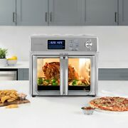 Oven 26 Qt. Extra Large Stainless Steel Air Fryer Kitchen Countertop W/ Trays
