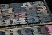 Antique Rare Alphabet 56pcs - 4.53 Wood Printing Blocks Letterpress Wooden Type