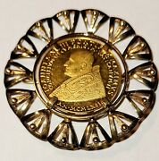Vatican Medal Joames Xxiii Second Ecumenical Council 1962 With 18 Kt Gold Brooch