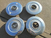 Set Of 4 Volvo Wheel Center Caps 2 Piece 240 1980s Vintage Hubcaps Clips