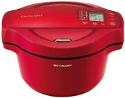 Sharp Helsio Hot Cook 1.6l Anhydrous Pot Red Kn-ht16e-r