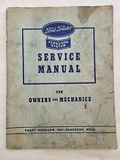 1943 Ford Tractor Ferguson System Service Manual Owners And Mechanics