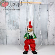 Vintage Marionette Puppets Mexico Mexican Payaso Hat String Pinocchio Red