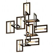 Troy Lighting - Nine Light Pendant - Enigma - Nine Light Pendant Bronze Finish