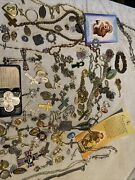 Large Lot Religious Ieweley Pins Rosaries Medals Vintage Rosary 123 Pcs R1