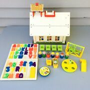Vintage Fisher Price Little People Play Family School Loaded