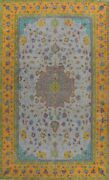 Floral Semi-antique Traditional Area Rug Evenly Low Pile Hand-knotted Wool 10x13