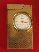 Vintage Clock Watch Lighter Omnia Windsor Made In Japan And Swiss Watch