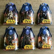 New Lot Of 6 Dark Side Star Wars Revenge Of The Sith Hasbro Action Figures 2005